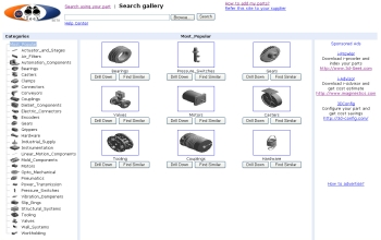 In addition to running searches, users can manually hunt for parts in the 3D-Seek database