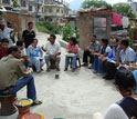 Photo of an environmental decision-making forum in India.
