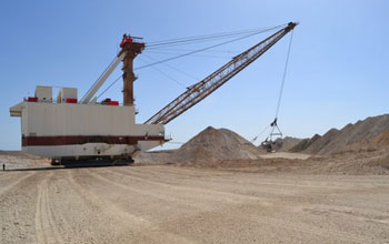 Photo of a phosphorus mine in Morocco.