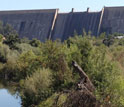 Image of Friant Dam on the Lower San Joaquin River in California.