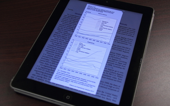 Photo of an ipad displaying the SEI app for iPad.