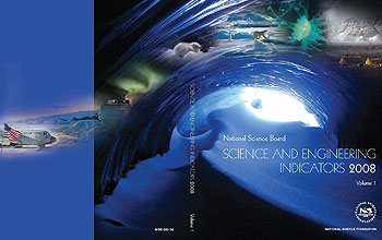 The cover of Science and Engineering Indicators 2008 celebrates International Polar Year.