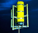An image of the SeaFet ocean pH sensor in water.
