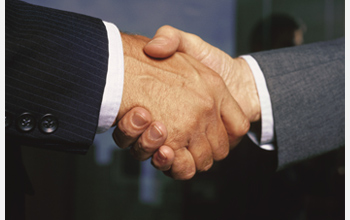 Photo of a handshake.