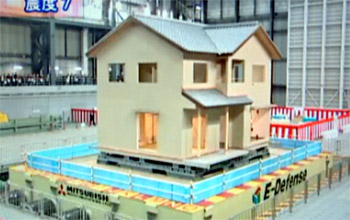 Japan's E-Defense earthquake simulator can accomodate a 1,200-ton building.