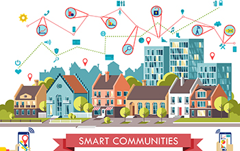 Graphic of smart community