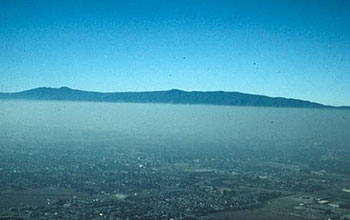 Smog over San Jose, California