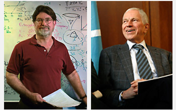George F. Smoot, left, and Edmund S. Phelps, right, two of this year's Nobel laureates.