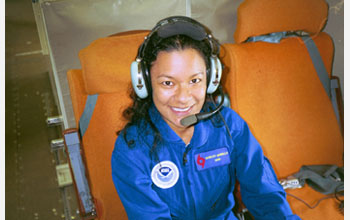 Photo of NOAA hurricane research meteorologist Shirley Murillo