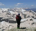 Photo of CSAS researcher Andrew Temple in Colorado's San Juan Mountains on May 12, 2009.