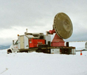 Photo of a Doppler-on-Wheels on snow.