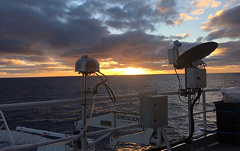Aerosol filter samplers probe the air over the Southern Ocean