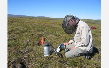Photo of scientist Ed Ayres who studies animals below-ground in tundra above the Arctic Circle.