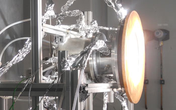 Photo of the solar fuel reactor.