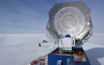 The South Pole Telescope in 2012-13.