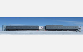 Image of the new Amundsen-Scott South Pole station dedicated in 2008.