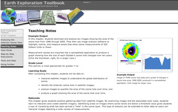 Screenshot from the Earth Exploration Toolbook.