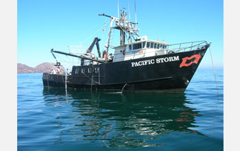 Photo of the research vessel Pacific Storm.