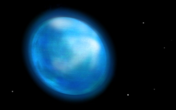 An artist's rendition of Altair, a star that spins so quickly it stretches at its equator.