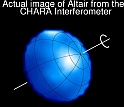The actual image of Altair as captured by the CHARA array.