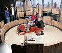 Photo of a visitor on a real world hovercraft..