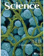 Cover of Science magazine.