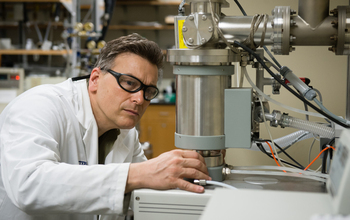 Researcher Stephen Foulger works at the Advanced Materials Research Lab in Anderson, South Carolina.