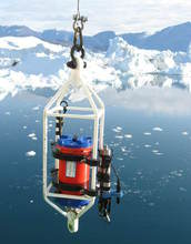 Deployment of a CTD recorder and an acoustic doppler current profiler (ADCP)