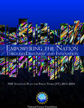 Cover of NSF Strategic Plan for Fiscal Years 2011-2016