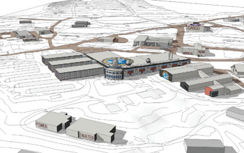 Graphic illustration showing conceptual long-term plan for McMurdo Station at South Pole
