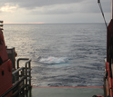 This photo shows an airgun array going off.