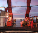 This image shows the fantail of the RV Sonne.