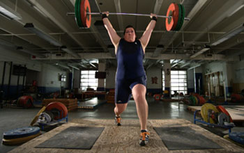 Photo of weightlifter Sarah Robles.