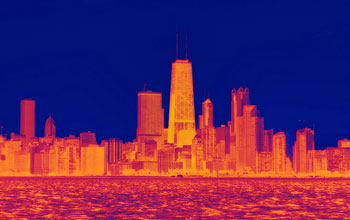 Heat map of Chicago skyline