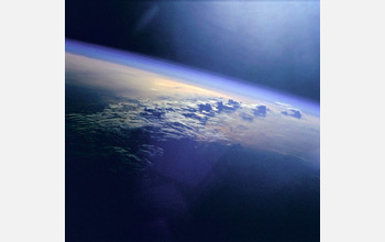 Image of the Earth's atmosphere.
