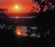 Sunset over the Chobe River. Its future and that of people living along its floodplain are linked.