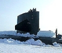 The USS Hawkbill at Scientific Ice Expedition '98 after breaking through the ice