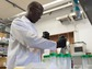 William A. Tarpeh working in the lab