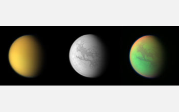 Three views of Titan.