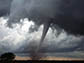 Tornado and dark clouds