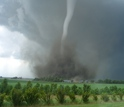 Photo of tornado in the field
