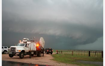 Photo of Doppler-on-Wheels, which is used to study tornadoes.