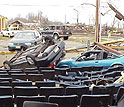 Property damage from a November tornado in Ohio.
