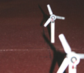 Photo of the wind turbine detail during the calibration process.