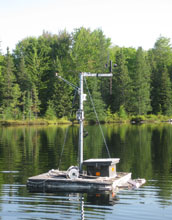 Photo of the high-frequency sampling equipment that monitored lake conditions.