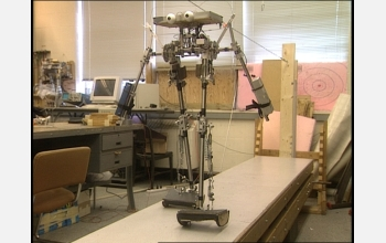 Video News Release showcasing the bipedal walking robots