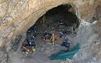 Photo of cave opening