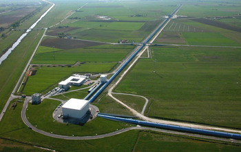 Aerial view of the Virgo site.