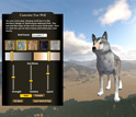 Computer screen shot of a wolf avatar.