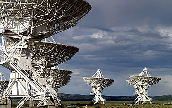 Antennas of the VLA in New Mexico.